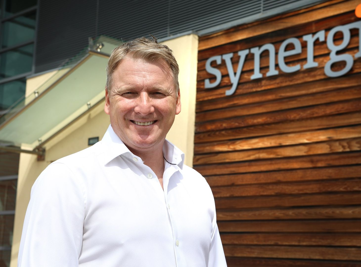 Image of Peter Joynson, outside of the Synergi Offices