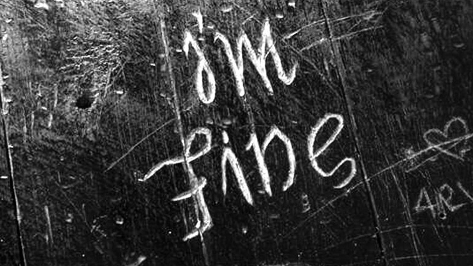 Image of the words i'm fine